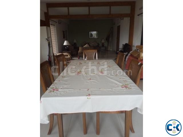 dining table with six chairs | ClickBD large image 0