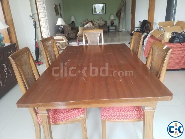 dining table with six chairs | ClickBD large image 1