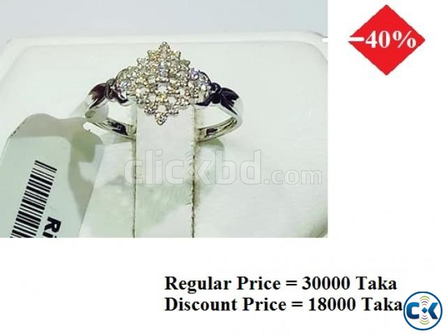 Diamond With White Gold Ring 40 OFF   ClickBD large image 0