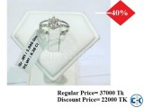 Diamond With White Gold Ring 40 OFF