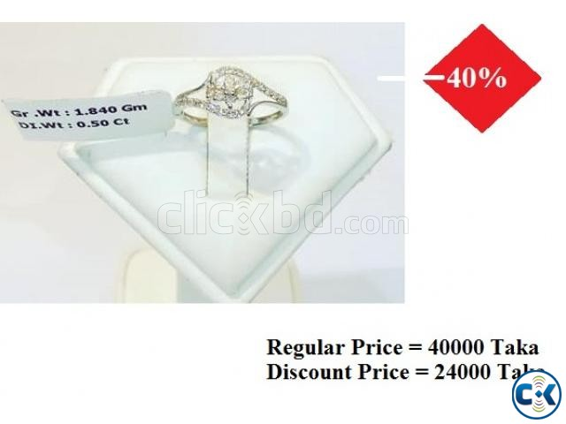 Diamond With White Gold Ring 40 OFF | ClickBD large image 0