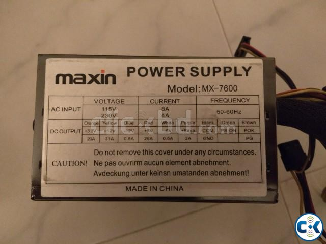 Maxin 600W Power Supply | ClickBD large image 0