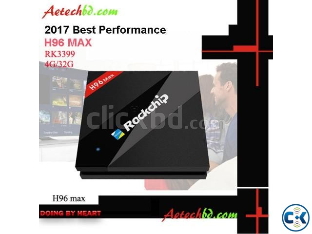 H96 Max 4G 32G Six Core UHD 4K TV BOX RK3399 | ClickBD large image 0