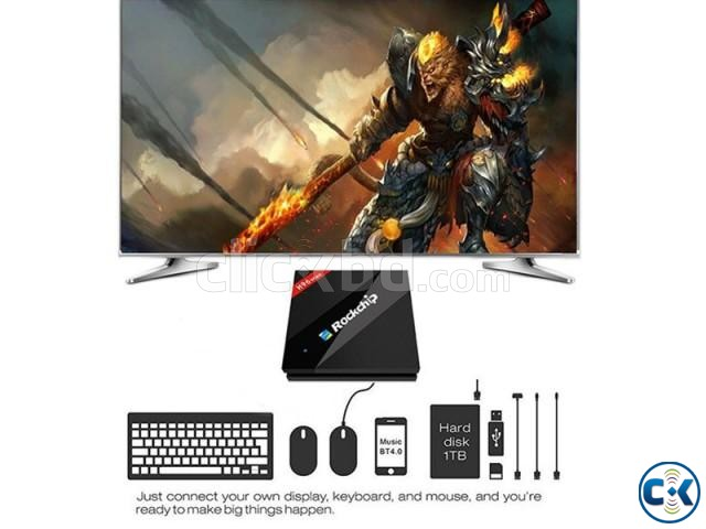 H96 Max 4G 32G Six Core UHD 4K TV BOX RK3399 | ClickBD large image 1