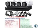 4-Pcs HD CCTV Camera Full Package