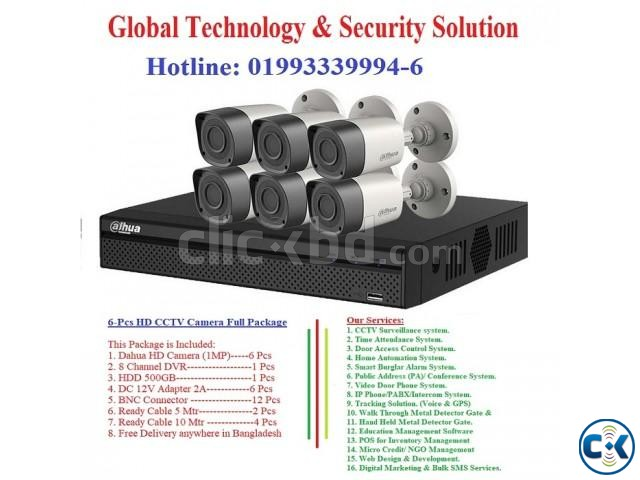 8-Pcs HD CCTV Camera Full Package | ClickBD large image 1