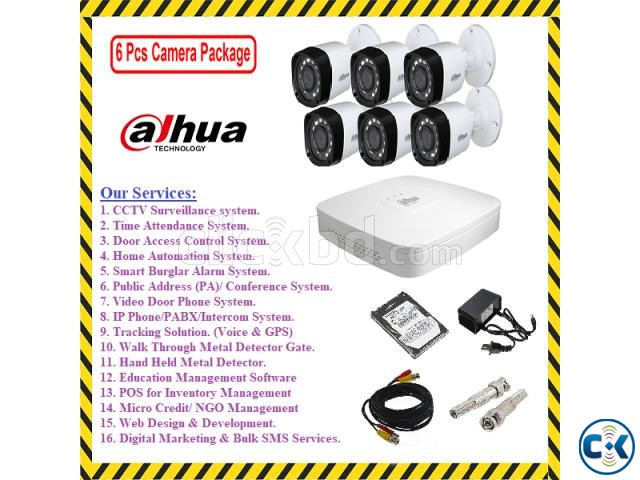 8-Pcs HD CCTV Camera Full Package | ClickBD large image 2