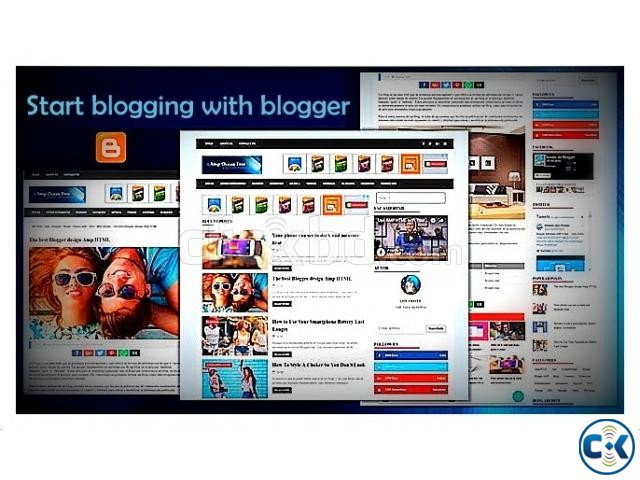 Create your blogger blog from us | ClickBD large image 0