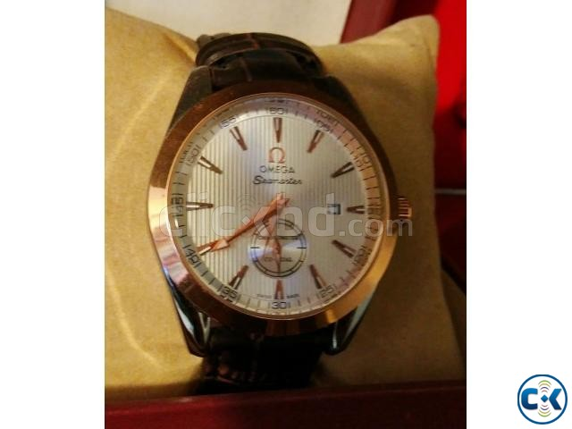 Omega copy watch with active sub dial and date | ClickBD large image 0