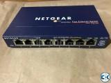 NETGEAR ProSAFE 8-Port Fast Ethernet Switch FS108