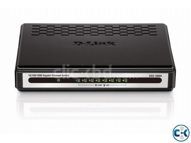 D-Link 8 Ports Gigabit Ethernet Switch Black DGS-1008A  | ClickBD large image 0