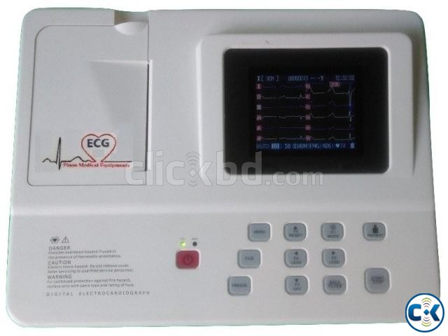 3 Channel ECG Machine | ClickBD large image 0