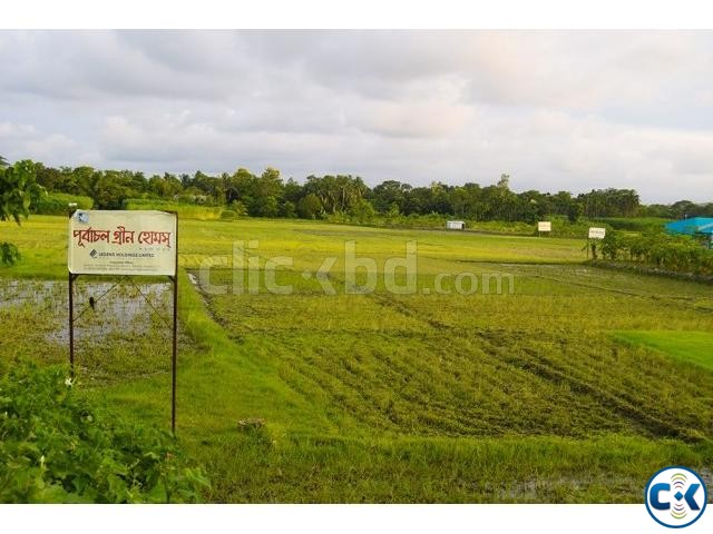 Land Plot Sale in near Rajuk Purbachal New Town | ClickBD large image 3