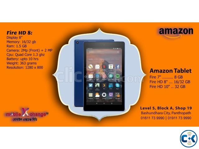 Amazon Fire HD 8 Tab | ClickBD large image 0