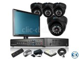 CCTV System 4 Channel Full Package with 17 LED Monitor