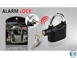 Alarm door lock