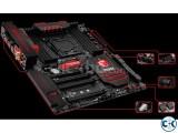 MSI X99A Gaming 9 ACk intact. Xeon 2608L v3