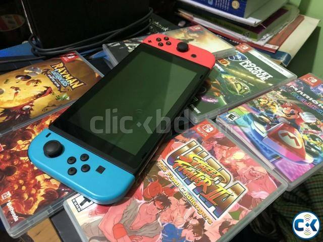 Nintendo Switch 32GB with Neon Red Neon Blue Joy-Con  | ClickBD large image 0