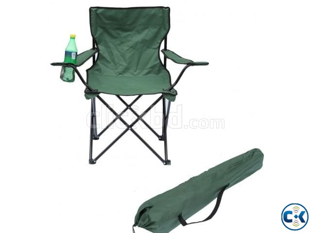 Fold Camp Chair Armrest Portable Fishing Beach Garden | ClickBD large image 2