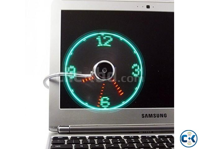USB Led Fan Clock Adjustable Real Time Display | ClickBD large image 4
