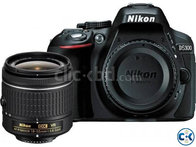 Nikon D5300 DSLR 24.2 MP Builtin Wi-Fi With 18-55mm Lens | ClickBD large image 0
