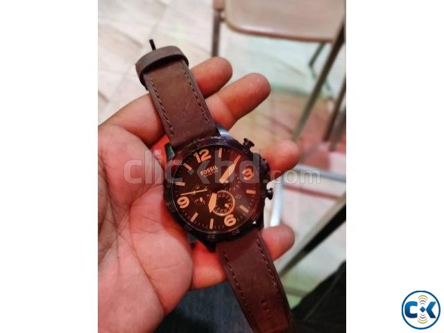 Fossil Nate Blacktone Brown Leather | ClickBD large image 0