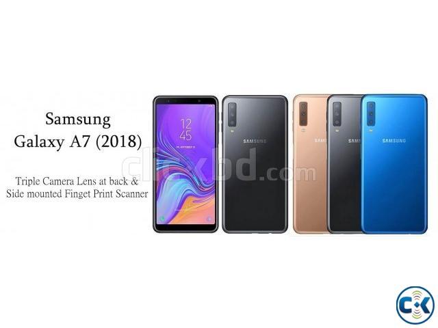 Brand New Samsung Galaxy A7 2018 128GB Sealed Pack 3 Yr Wnty | ClickBD large image 0