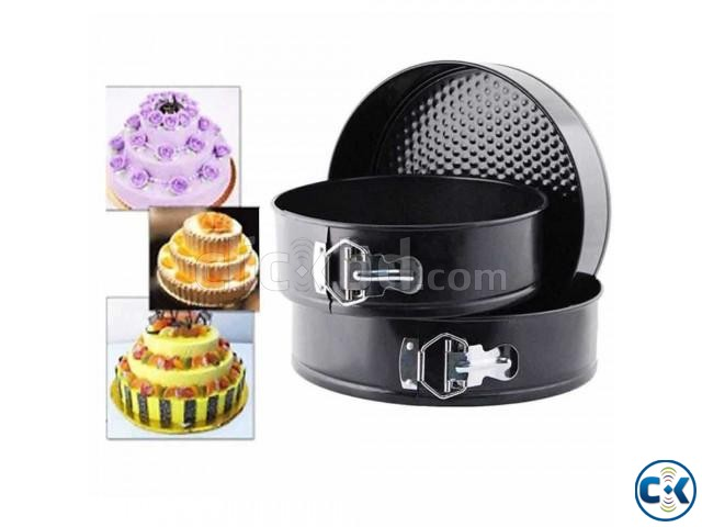 ROUND SHAPE CAKE MOULD 3 PCS  | ClickBD large image 0