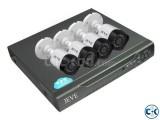 CCTV Package 4 Channel DVR 4 Pcs Camera 1 Mega 500 GB HDD