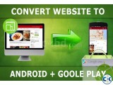 Convert website to Android apps Submit to Google play