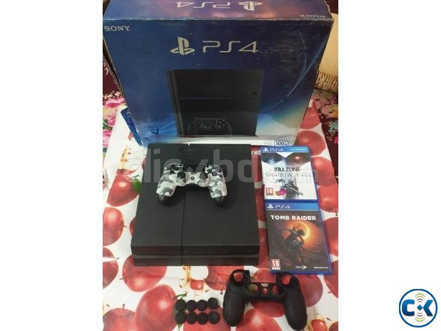PS4 500 GB jet black E12 | ClickBD large image 0