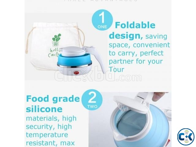 Electric Kettle Foldable Portable Travel Camping Picnic | ClickBD large image 3