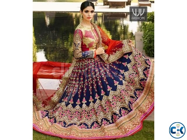 Epitome Heavy Embroidered Wedding Wear Lehenga Choli | ClickBD large image 0