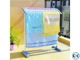 Portable Folding Space Save Mobile Towel Cloth Rack