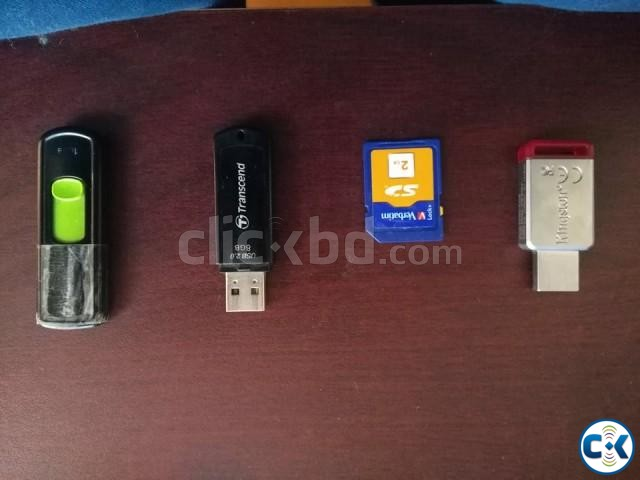 3 Pendrives and 1 SD Card Check Details  | ClickBD large image 0