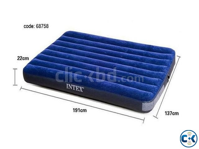 intex Double Air Bed With Electric Pummer Free | ClickBD large image 1