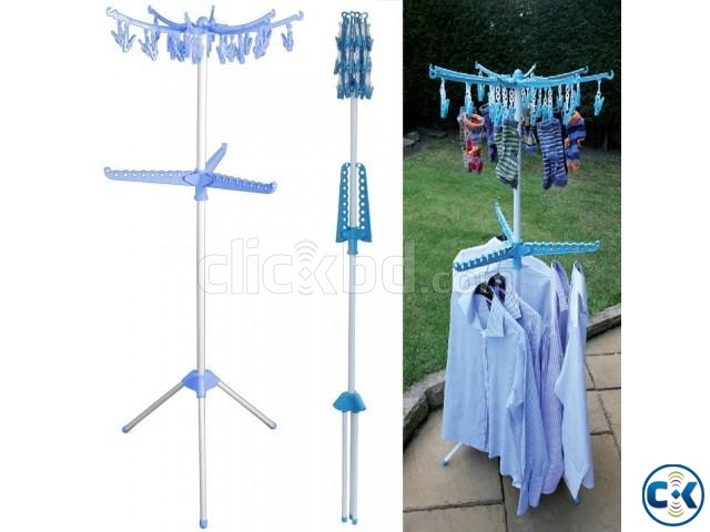 Collapsible Clothes Drying Rack Airer Portable | ClickBD large image 0