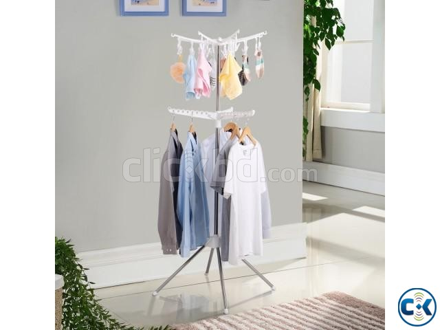 Collapsible Clothes Drying Rack Airer Portable | ClickBD large image 3