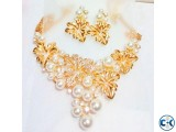 indian gold plated pearl necklace
