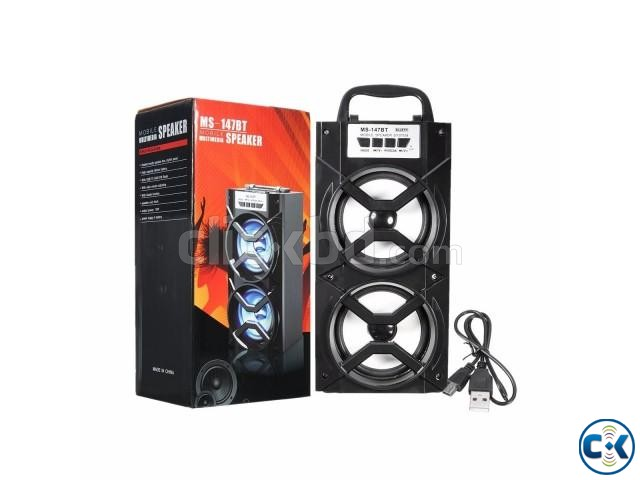 MS-147BT Portable Bluetooth Wireless Super Bass Speaker | ClickBD large image 0
