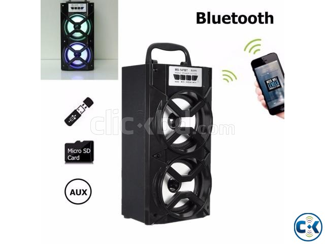 MS-147BT Portable Bluetooth Wireless Super Bass Speaker | ClickBD large image 1