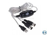 USB IN-OUT MIDI Cable Converter PC to Music Keyboard Adapter