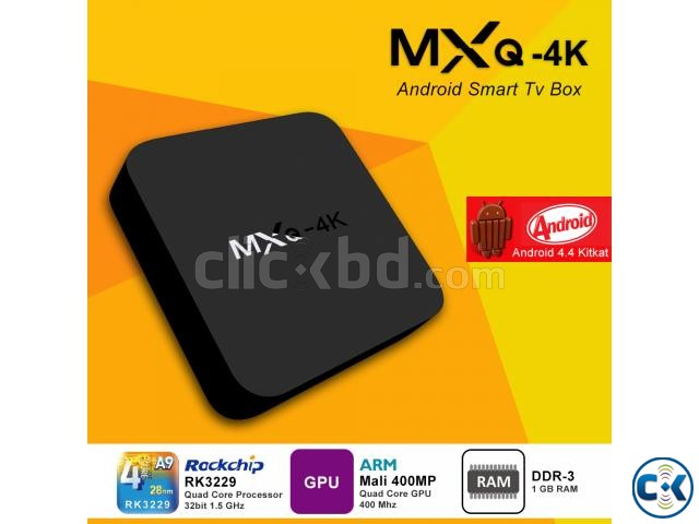 MXQ 4K Android Smart TV Box 1G 8G Make Your TV Android TV | ClickBD large image 0