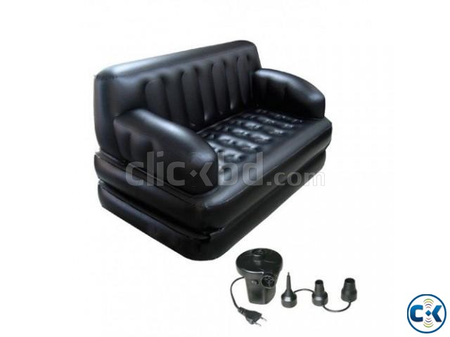 5 in 1 inflatable air bed Sofa Cum Bed New Version | ClickBD large image 1