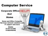 Computer Service Provided At Home Corporate Office
