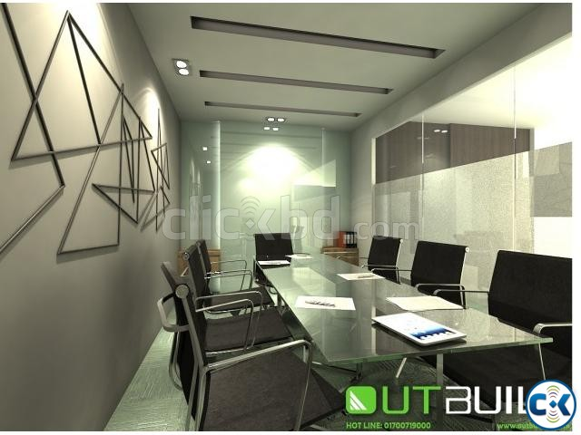 House Design bd Office interior Design in Dhaka | ClickBD large image 1