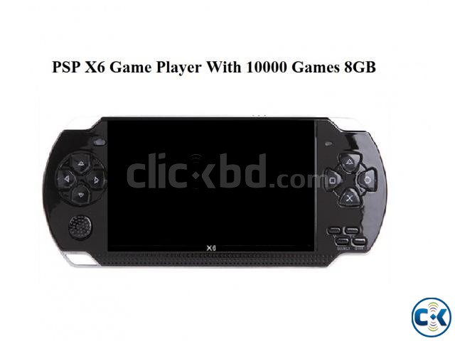 PSP X6 Game Player With 10000 Games 8GB New  | ClickBD large image 0