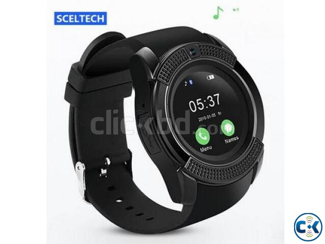 V8 Smart Watch Clock With Sim TF Card Slot Bluetooth Smartwa | ClickBD large image 0