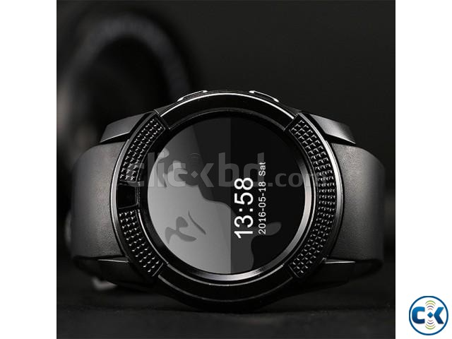 V8 Smart Watch Clock With Sim TF Card Slot Bluetooth Smartwa | ClickBD large image 1