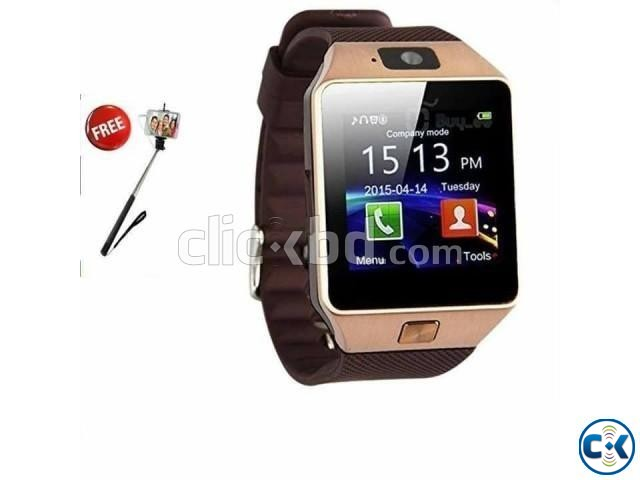 DZ09 Single SIM Smart Watch Phone | ClickBD large image 0